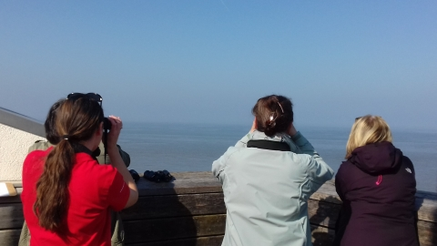 Sea watch at Rossall Point Observation Tower