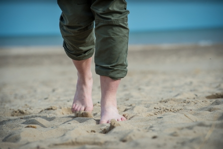 Walking barefoot in the sand © Matthew Roberts