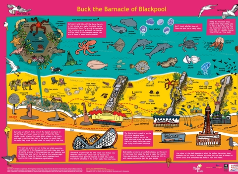 Buck the Barnacle of Blackpool Map